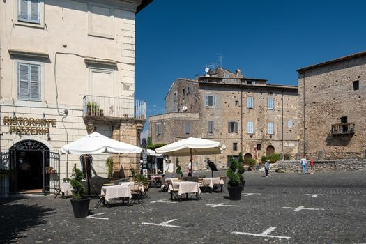 Scenic sight in Anagni, province of Frosinone, Lazio, central Italy Europe Anagni Italy September 2020