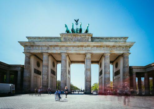 The Brandenburger Tor, Brandenburger Gate in Berlin, Germany. Tourist attraction.