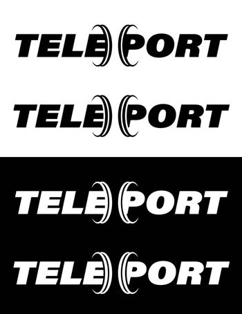 original teleport logo, isolated vector on white background