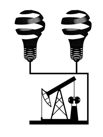 illustration, oil rig black on a transparent background, energy security, oil production hazard