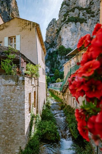 The Village of Moustiers-Sainte-Marie, Provence, France June 2020 Europe