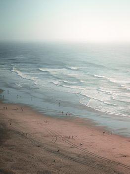 A summer day on a beach in California.