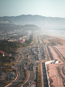 A seaside highway in Northern California.