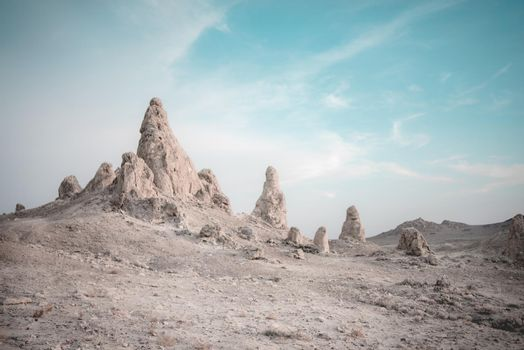 Tufa formations standing tall in the desert