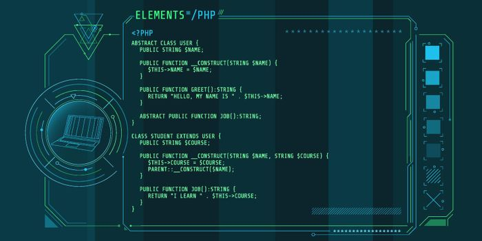 HUD interface elements with part of the code PHP.