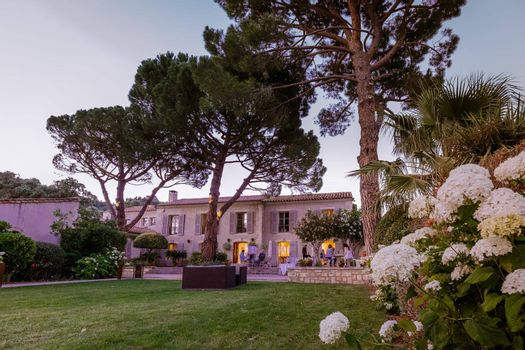 luxury hotel Provence France during sunset with swimming pool France