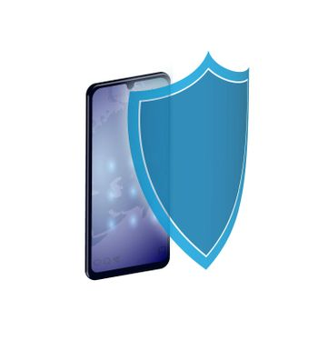 Concept smartphone with a shield. Protection of personal data on the network. Security of information transfer on the Internet. Vector