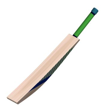 cricket bat in realistic style on a white background. Summer team sports. Vector on a white background