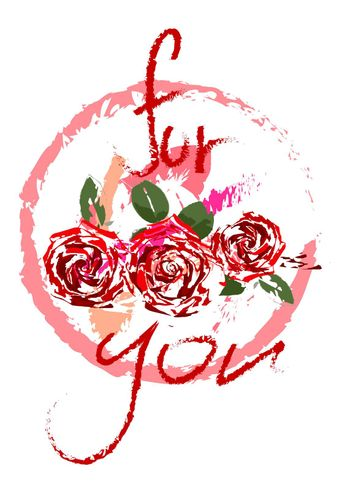 festive logo for mother's day, roses on a transparent background, in the style of oil painting