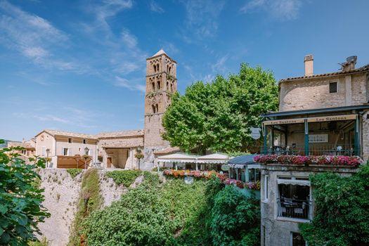The Village of Moustiers-Sainte-Marie, Provence, France June 2020
