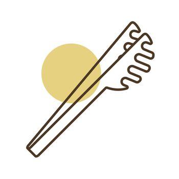 Spaghetti tongs vector icon. Kitchen appliances