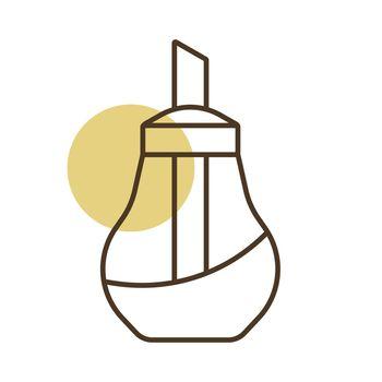 Sugar bowl shaker bottle icon