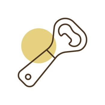 Close up of bottle opener vector icon
