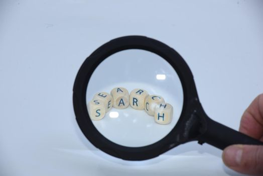 digital search and research of information on the web or internet