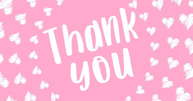 Thank you card for invitation or celebration etc.