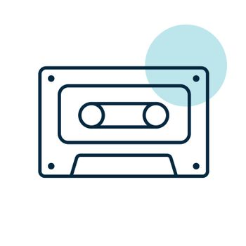 Audio cassette tape vector icon