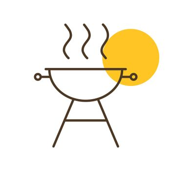 Grill BBQ cookout vector icon