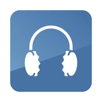 Winter headphones earmuffs vector icon