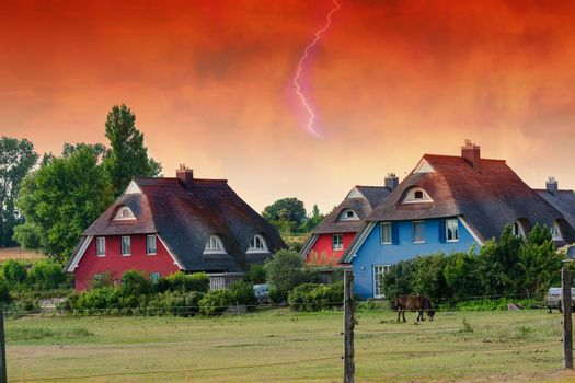 Houses on the Fischland-Darß