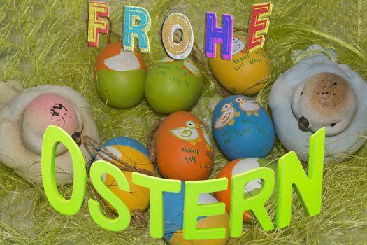Colorful Easter basket or basket