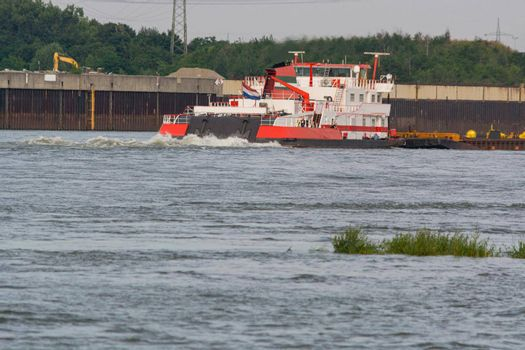 Freighter. On the Kiel Canal