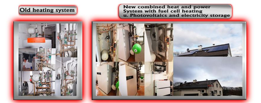 Old heating system vs new heating system