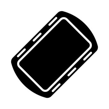 Pan tray for cooking and baking in oven glyph icon