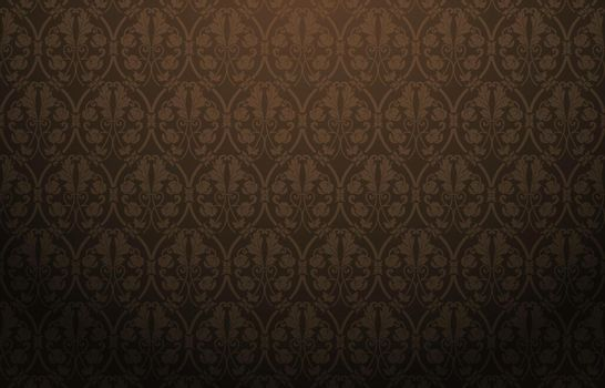 Damask black, Damask Pattern Black, Background pattern ornament, Black damask background with seamless pattern in the style of Baroque, for wallpapers, fabric print, textile, packaging design product