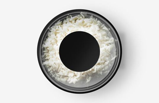 Rice Food Container With Sticker Mockup