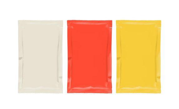 Sauce Sachet Packaging Mockups