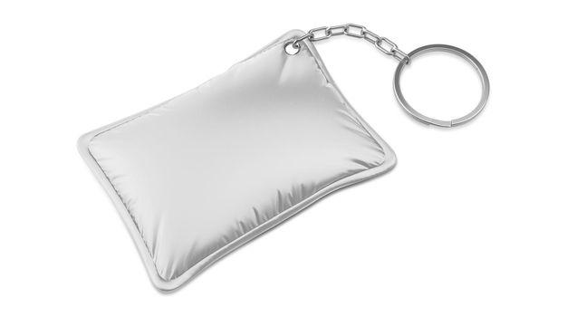 Single Rectangular Promotion Pillow Keychain Mockup