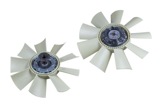 Viscous coupling of the fan car with the impeller Assembly on an isolated white background