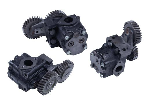 truck oil gear pump isolated on white background