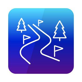 Ski route vector icon. Winter sign