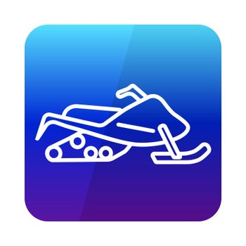 Snowmobile flat vector icon design isolated