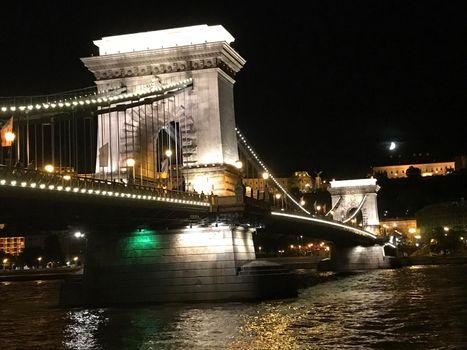 Szechenyi Chain Bridge at night