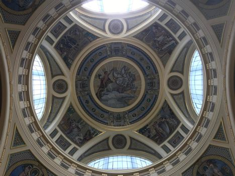 The dome Inside the Szechenyi Thermal Bath
