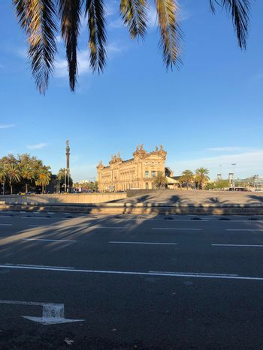 Plaza de les Drassanes roundabout in Barcelona
