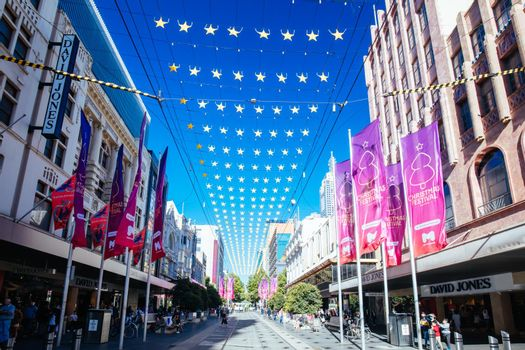Bourke St Mall at Christmas in Australia