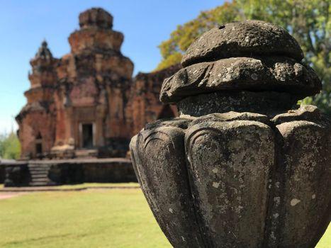 Khmer temple Prasat Si Khoraphum in Thailand