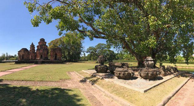 Panorama from Khmer temple Prasat Si Khoraphum