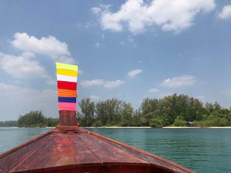 Long-tail boat at the Khuan Tung Ku river