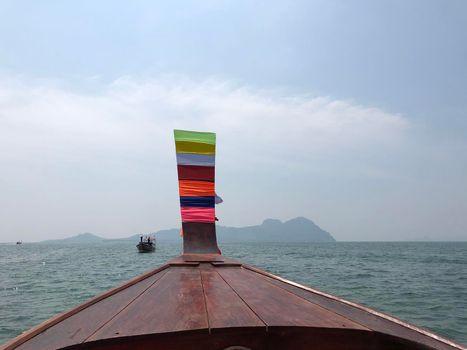 Long-tail boat towards Koh Mook