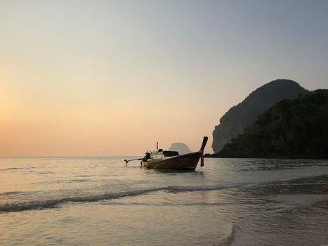 Long-tail boat at Farang Beach