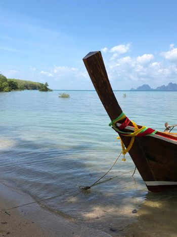 Long-tail boat at the beach on Koh Mook Island