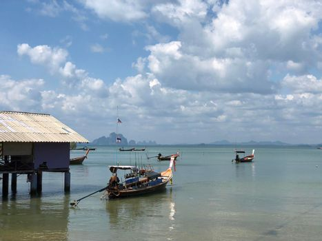 Long-tail fishing boats