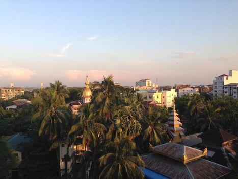 Yangon Myanmar city view