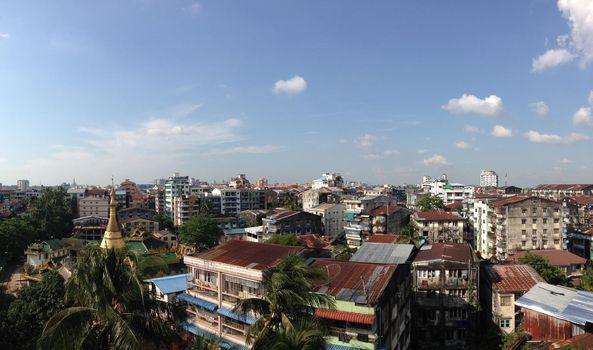 Yangon city view