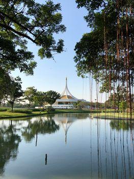 Commemoration Hall (Ratchamongkol Hall) in King Rama IX Park
