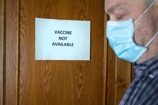 Vaccine not available sign